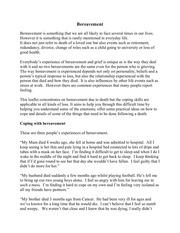bereavement leaflet