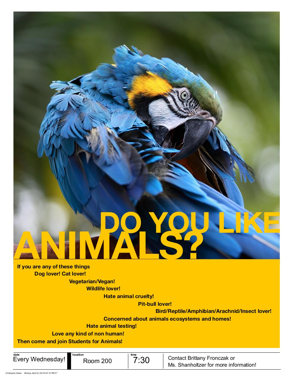 Document preview Animal Poster 2.pdf - page 1/1