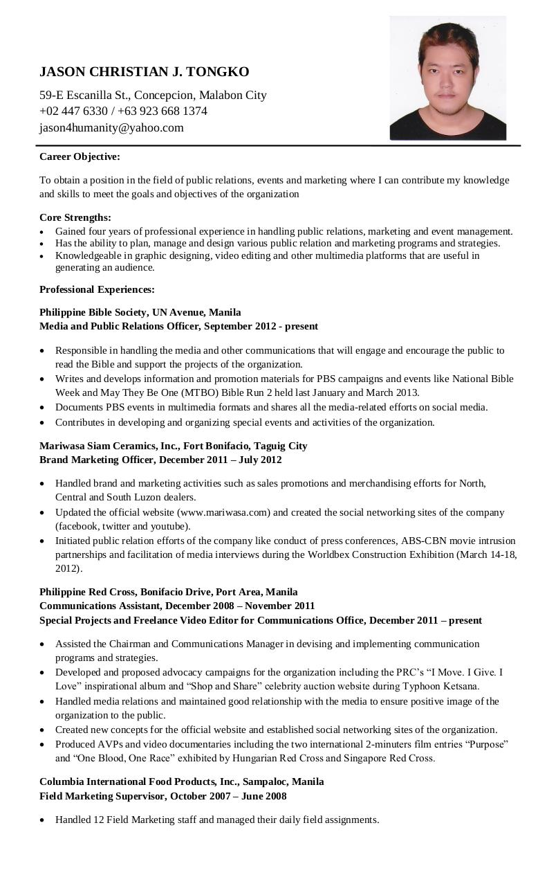 JCT Career Resume (2013) by Jaycee - PDF Archive