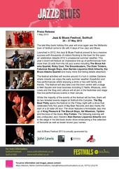 jazz blues festival press release
