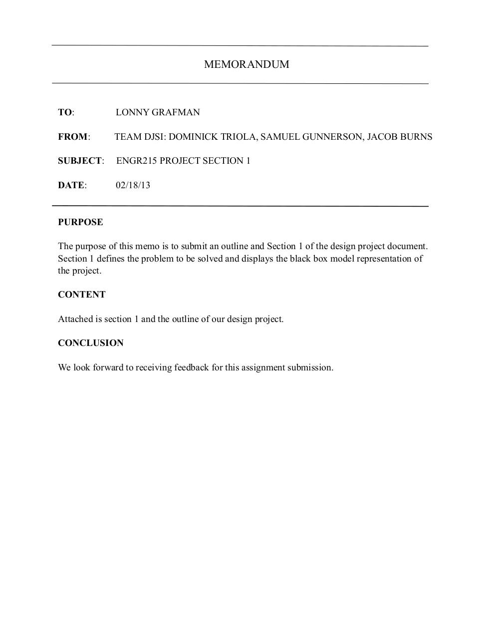 Document preview Engr215 Cover Memo Section 1.pdf - page 1/1