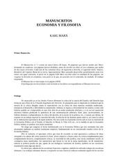 karl marx manuscritos de econom a y filosof a