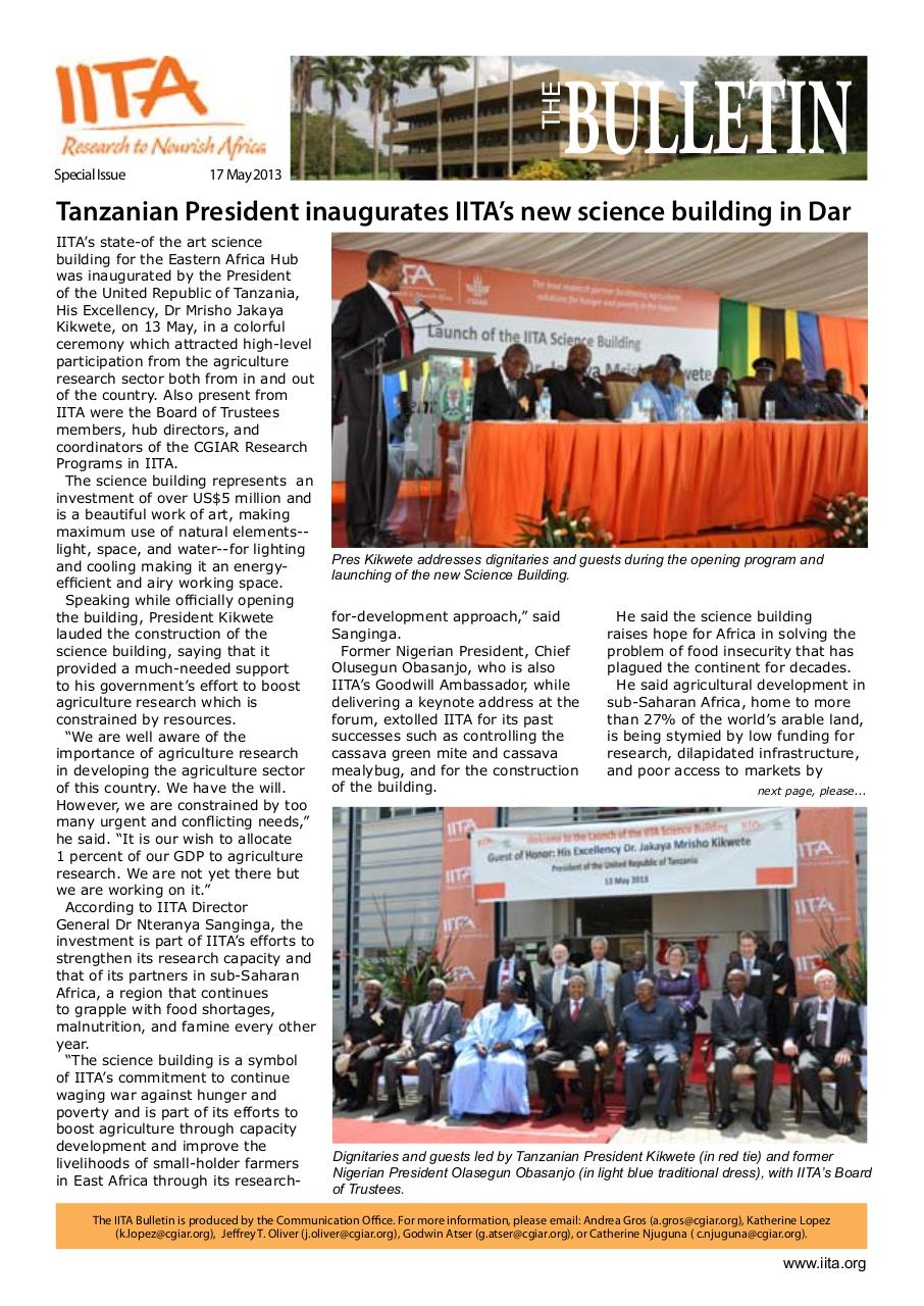 Document preview Special bulletin on Science Building launch.pdf - page 1/5