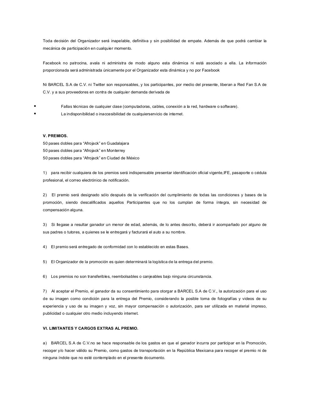 Document preview Formato Bases Legales y Aviso Privacidad2013 AFROJACK.pdf - page 3/5