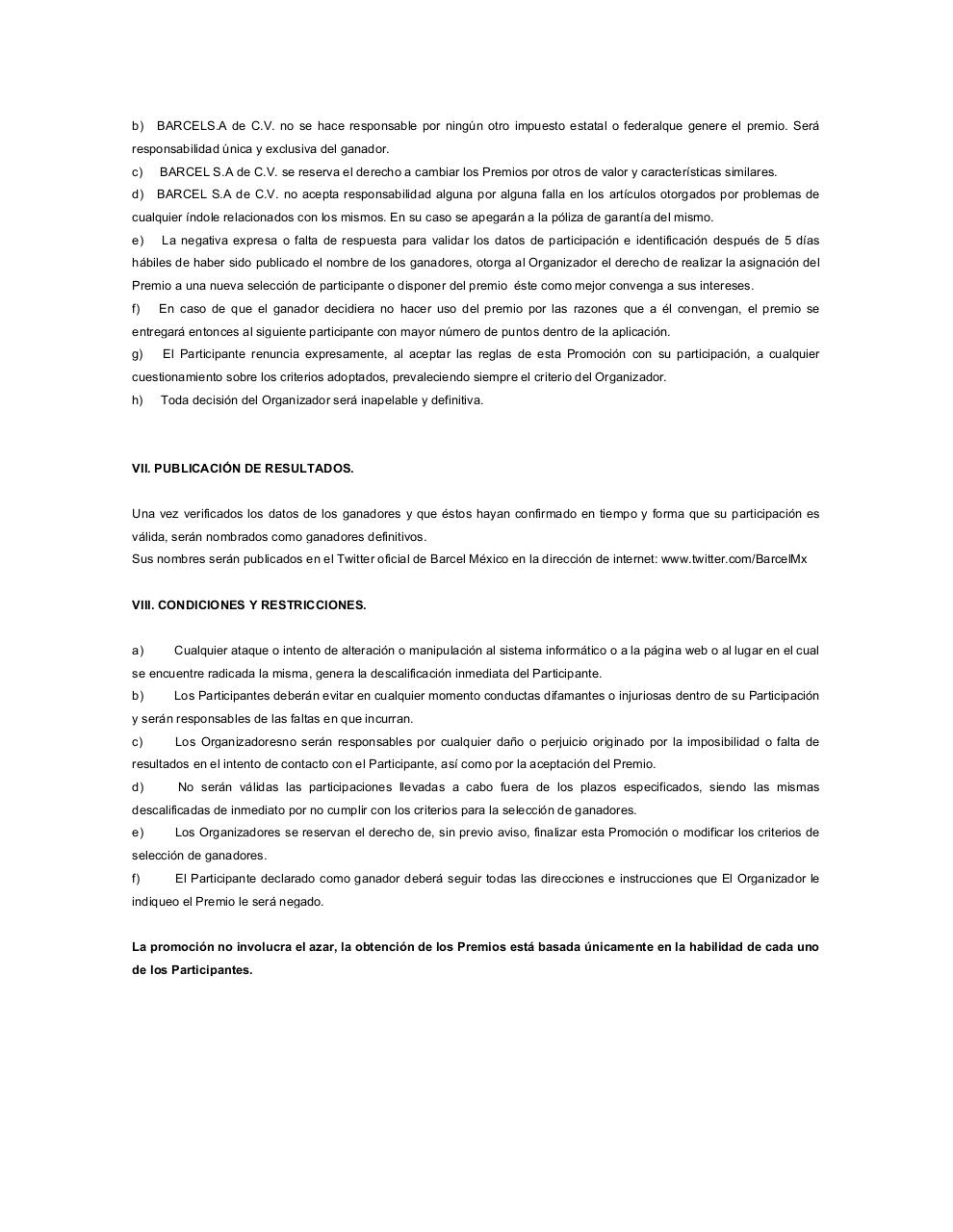 Document preview Formato Bases Legales y Aviso Privacidad2013 AFROJACK.pdf - page 4/5