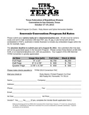 PDF Document ad form for 2013 tfrw convention program rev 4 22 13