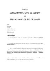 regulamento concurso de cosplay xviii erpgv