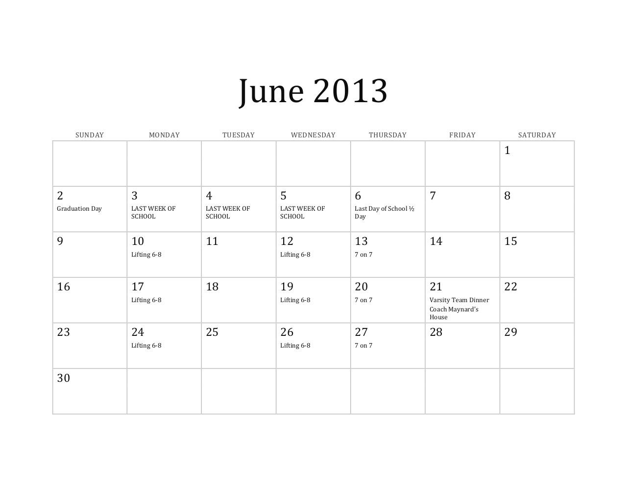 2013 Calendar for athletes Copy.pdf - page 1/6