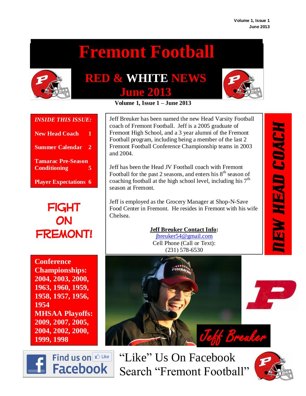 2013 RED & WHITE NEWS - Volume 1, Issue 1 - June 2013.pdf - page 1/6