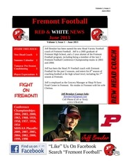 2013 red white news volume 1 issue 1 june 2013