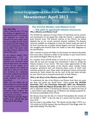 uccsa newsletter april 2013