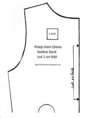 peep hem dress pattern size 5 1