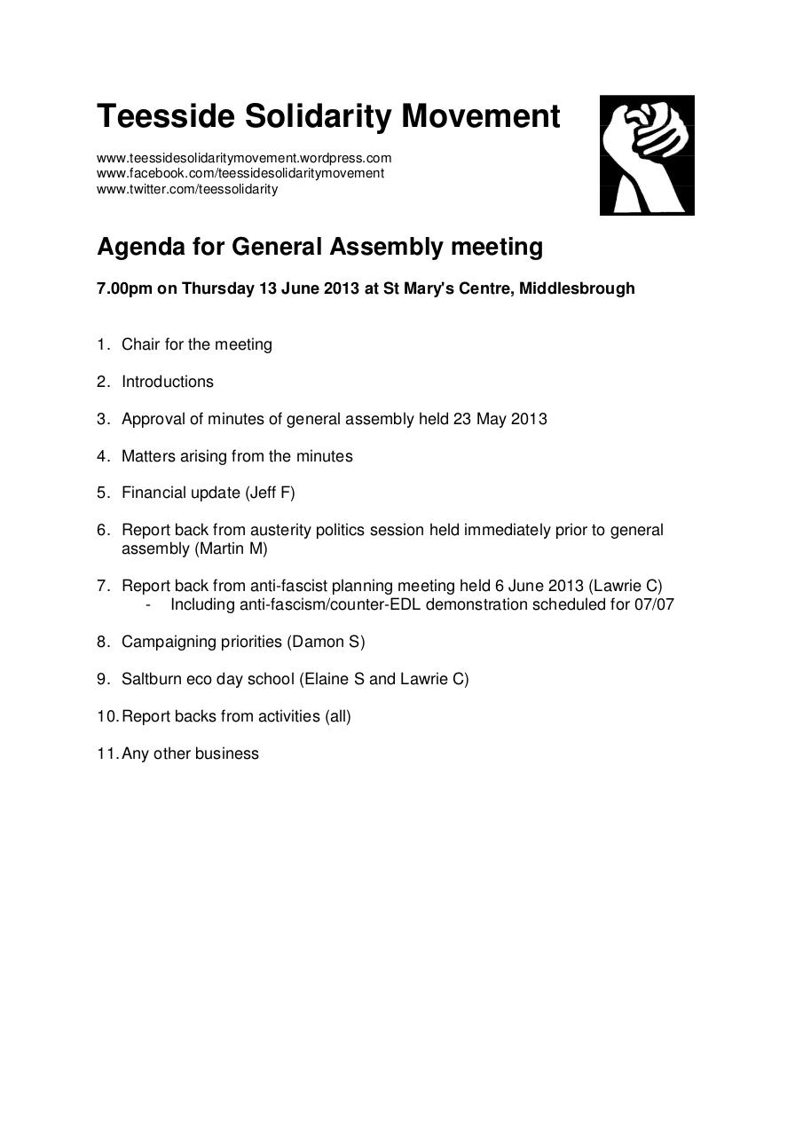 Document preview TSM general assembly 2013-06-13 agenda.pdf - page 1/1