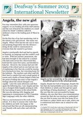 deafway international newsletter summer 2013