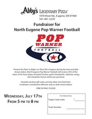 popwarner eugene flyer for abby s