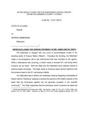 zimmerman ruling barring audio expert testimony