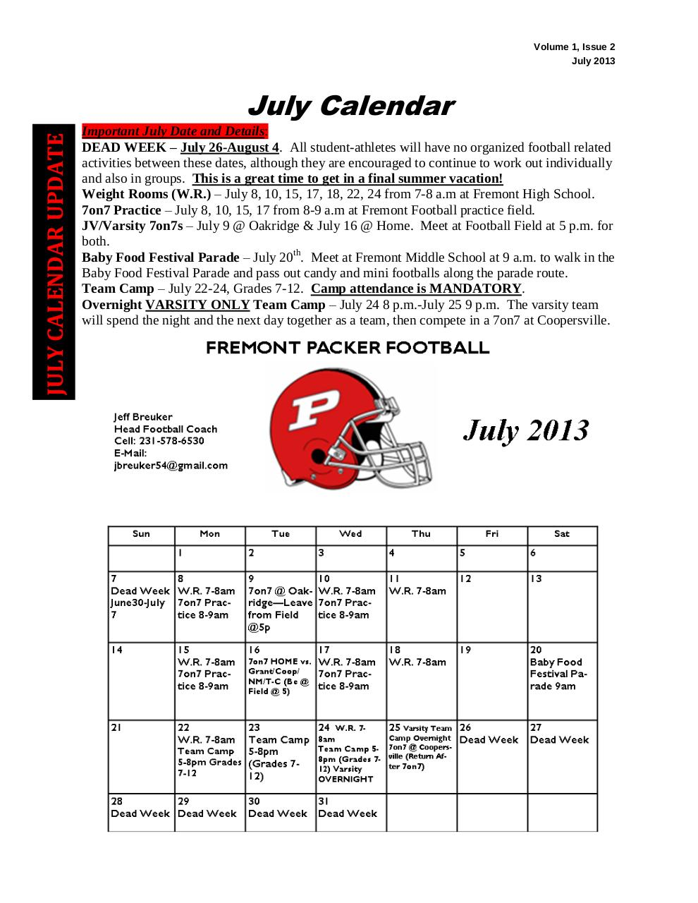 Document preview 2013 RED & WHITE NEWS - Volume 1, Issue 2 - July 2013[1].pdf - page 3/5