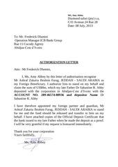 PDF Document authorization letter