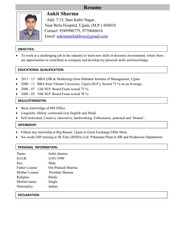 ankit sharma pdf resume
