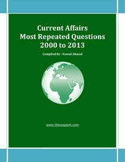 most repeated question current affairs 2000 to 2013