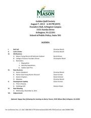 agenda q1 meeting