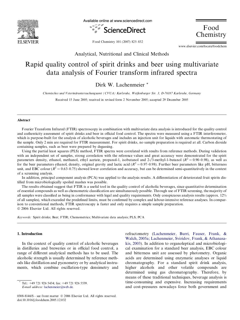 Rapid quality control of spirit drinks and beer using FTIR.pdf - page 1/8