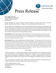 website press release uniplus