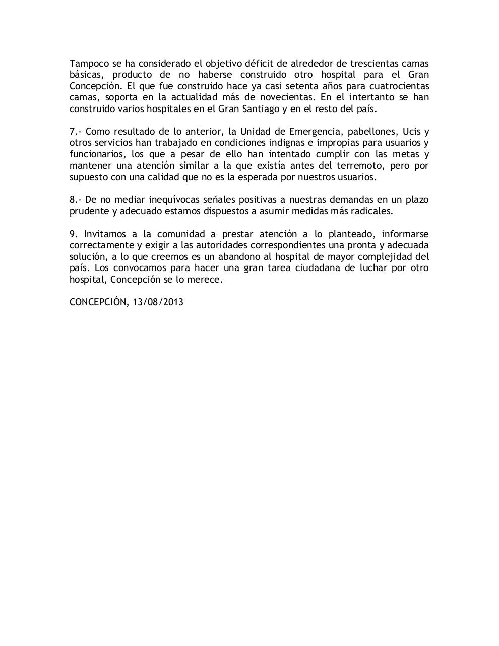 Document preview Carta Jefes de Servicio Hospital Regional.pdf - page 2/2