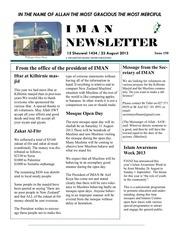 iman newsletter 23 aug 2013