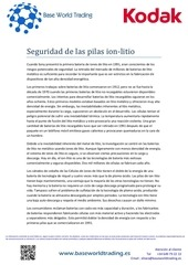 seguridad de las pilas ion litio