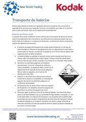 transporte de baterias
