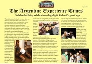 the argentine experience times edition 1