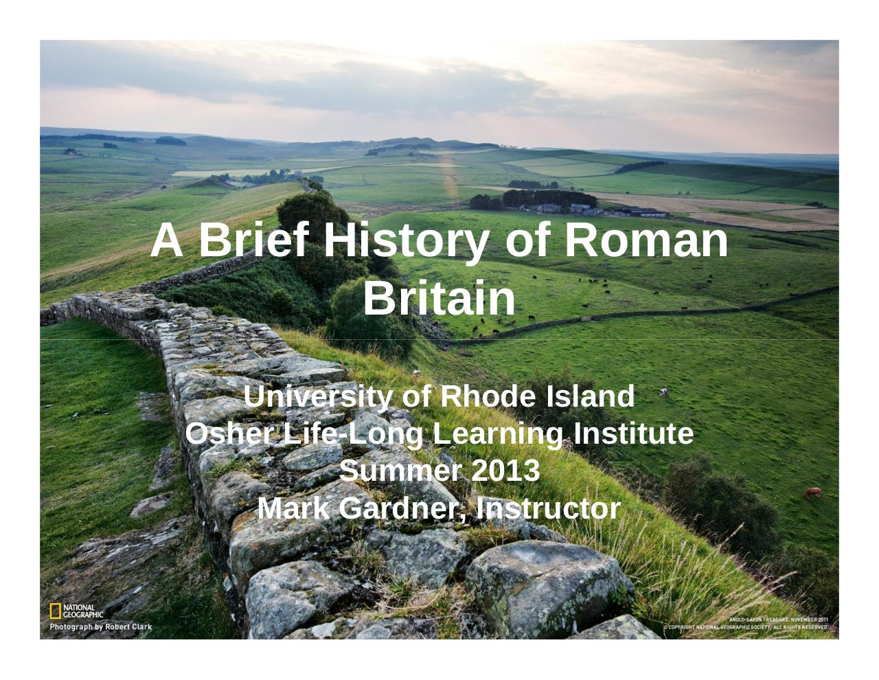 A Brief Recap of History of Roman Britain - Week 1.pdf - page 1/22