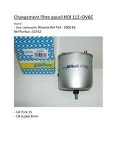 tuto changement filtre gasoil hdi 112