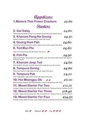 thai connection menu