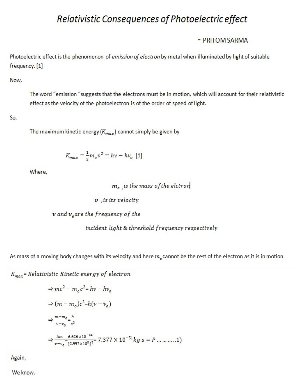 Relativistic Consequence of Photoelectric effect.pdf - page 1/2