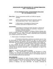 ata a g e de 13 12 2005 estatuto e normas da ass