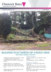 building plot north of 4 rock view