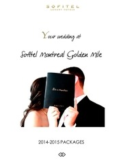wedding packages 2014 sofitel montreal golden mile