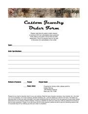 PDF Document order form