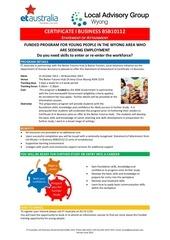 cert i business flyer bfh june 2013 v2