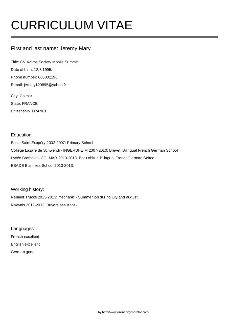 Document preview Jeremy_Mary_CV.pdf - page 1/1