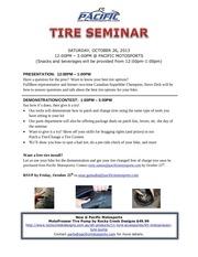 tire seminar flyer