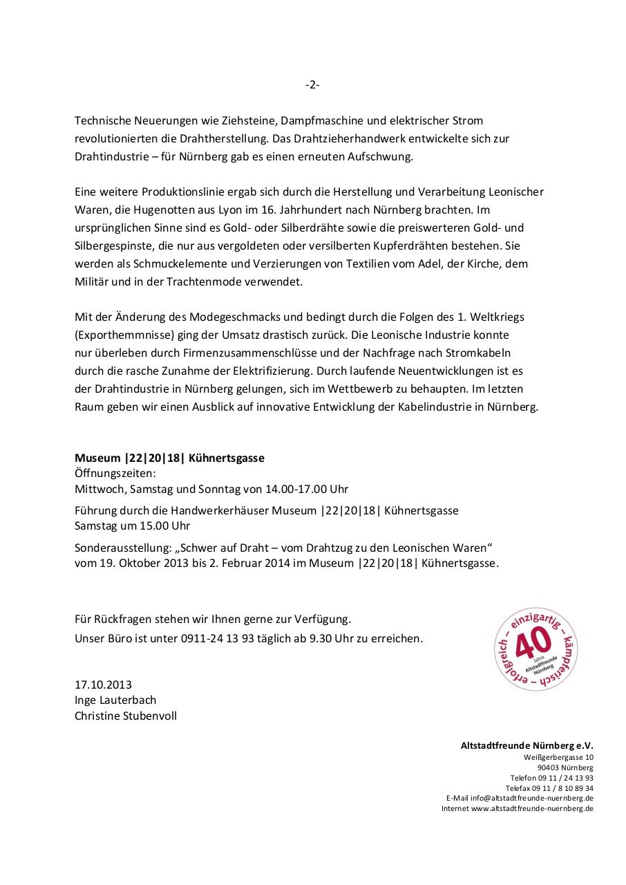Document preview 2013-10-17 PM Drahtausstellung.pdf - page 2/2