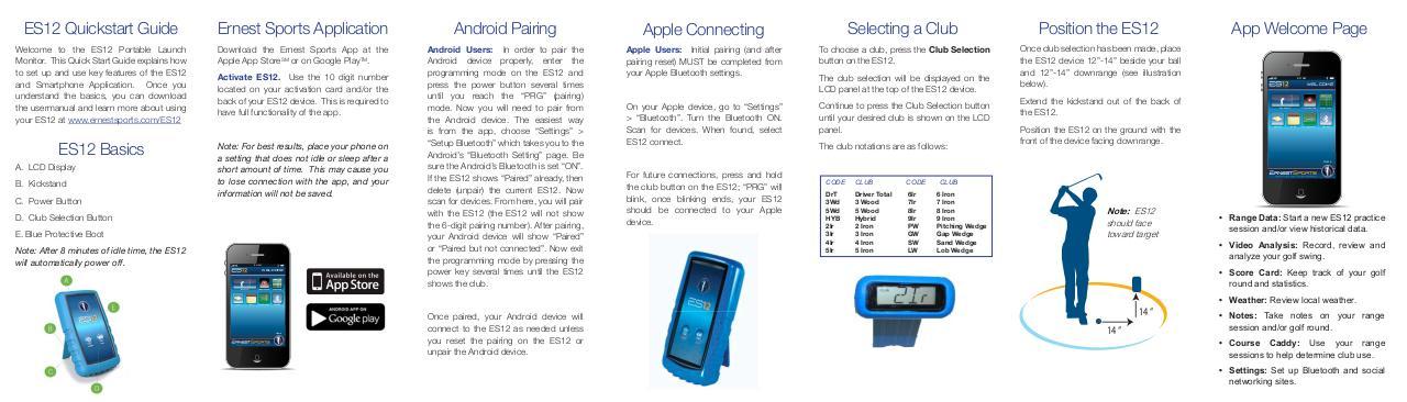 ES12 Quick Start Guide - PDF Archive