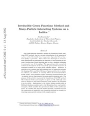 many particle strongly interacting systems