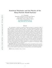 PDF Document statistical mechanics and many b0dy models