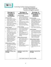 six key strategies for teaching ells