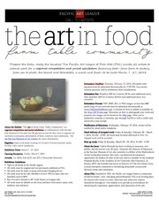 PDF Document the art in food prospectus online