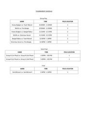 bfl tournament schedule